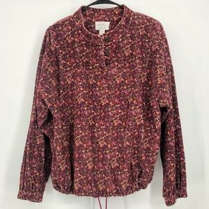 Christopher & Banks Floral pull over sweat…